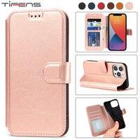 IPhone用磁気フラップウォレットケース,モデル13 12 mini 11 pro xs max xr x 6 6s 7 8 plus 5s SE