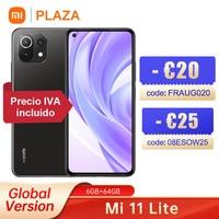 Globale Version Xiaomi Mi 11 Lite NFC Smartphones Snapdragon 732G Octa Core 64GB 64MP Hinten Kamera 4520mAh smart Handy