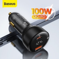Baseus PD 100W USB Auto Ladegerät Schnell Ladung 4,0 QC 4,0 QC 3,0 Typ C USB AUTO Ladegerät Schnell lade Für iPhone Xiaomi Handy