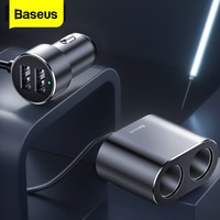 Baseus Auto Splitter Zigarette Leichter 12V-24V Dual USB Auto Ladegerät Buchse 100W Auto Auto Splitter power Adpater Für Auto USB HUB