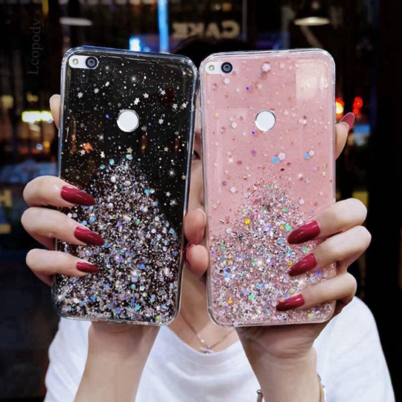 Para Huawei P9 Lite P8 Lite 2017 chapado suave caso Honor 8 Lite TPU caja del teléfono de la contraportada para Huawei GR3 2017 funda protectora Coque