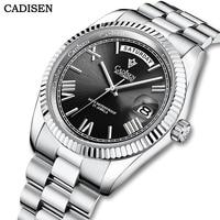 CADISEN 2021 Men Watch Automatic Mechanical Luxury Sapphire Glass Day Date 50m Waterproof Japan Miyota Movement Wrist Watch Men
