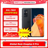 DHL Frei Globale Firmware Oneplus 9 Pro 5G Handy 8GB RAM 256GB ROM 6.7 ''2K AMOLED Snapdragon 888 Octa Core 65W Aufzurüsten
