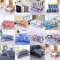2pcs Simple Floral Pillow Case 48x74cm Four Seasons Universal Pillowcase Easy to Clean king size case pillow home decor