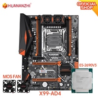 HUANANZHI X99 AD4 X99 Motherboard mit Intel XEON E5 2690 v3 mit MOS FAN combo kit set Unterstützung die DDR4 NVME NGFF SATA USB 3,0