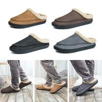 New Men Slippers Winter Big Size 4950 Comfort Warm Slippers For Male Antiskid Short Plush Home Soft Slippers Slip -On Shoes Men