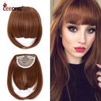 Leeons קצר סינטטי פוני חום עמיד Hairpieces שיער נשים טבעי קצר מזויף שיער פוני שיער קליפים עבור הרחבות שחור