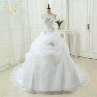 뜨거운 판매 새로운 도착 Vestido 드 Noiva 라인 신부 가운 구슬 화이트 아이보리 웨딩 드레스, 2021 로브 드 Mariage Casamento OW3199