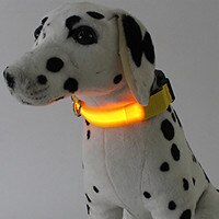 USB נטענת LED כלב קולר לחיות מחמד מהבהב זוהר בטיחות אור עד ניילון כלב אביזרים לחיות מחמד צווארון לכלבים LED קולרים