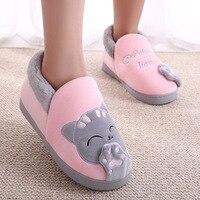 Women Winter Warm Home Slippers Shoes Lightweight Slip On Flock Indoor Slippers Plush Female Slides Ladies Bedroom House Slipper
