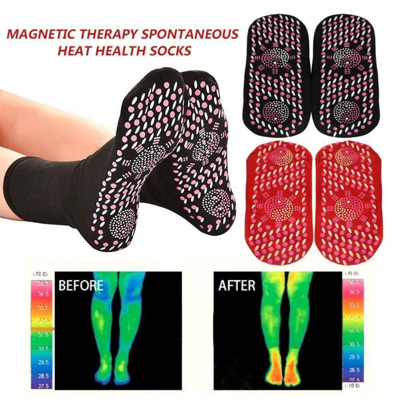 Socks Self Heating Therapy Magnetic Tourmaline Magnetic Therapy Pain Relief Socks Woman Men Fir Tourmaline Magnetic Socks