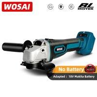 WOSAI-M14 무선 전기 브러시리스 앵글 전기 그라인더, 18V 마끼다 리튬 배터리용 그라인딩 기계 연마 커팅