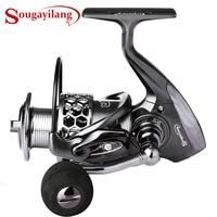 Sougayilang דיג סליל 13 + 1BB/11BB אור משקל Ultra חלק אלומיניום ספינינג דיג סליל גלגל