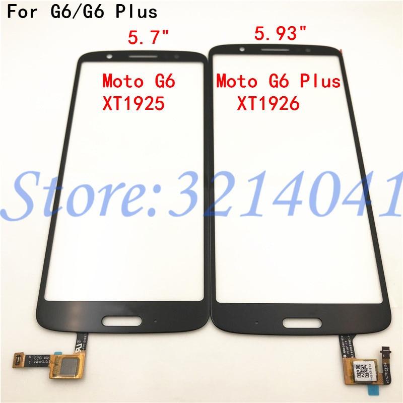 Pantalla táctil Original para móvil, piezas de Panel de Sensor de Digitalizador de pantalla táctil para Motorola Moto G6 XT1925 / G6 Plus XT1926