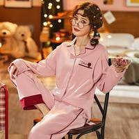 Cotton Pajamas for Pregnant Women Spring and Autumn Postpartum Lactation Monthly Wear Fresh Leisure Pure Cotton Set