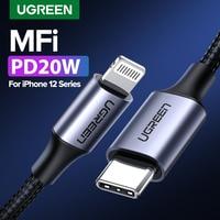 Ugreen-USBケーブルタイプC,iPhone 13 Mini pro max pd18w 20w,macbook pro用急速充電データケーブル