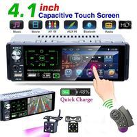 45% heiße Verkäufe! P5130 4,1 Zoll Auto Radio Bluetooth-kompatibel Touchscreen MP5 Player mit Rück Kamera