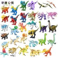 Jurassic Dinosaur Forest Animal Jungle Spinosaurus Styx Dragon Rose Red Tyrannosaurus Assemble Toys For Children Dinosaurs Gifts