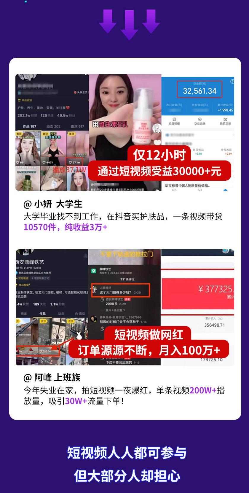 15天短视频掘金营:会玩手机就能赚钱,新手暴利玩法月入几万元(15节课)