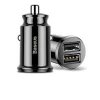 Baseus CCALL-ML01 Mini Dual USB 3,1 A Max Ausgang Schnelle Auto Ladegerät Kopf-Schwarz