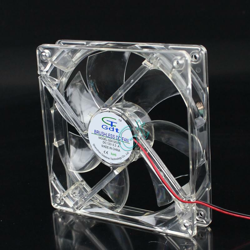 80pcs 12025 DC Computer Case Axial Fan 12v 4 Pin White Light 12CM LED 120x120x25mm Free Shipping