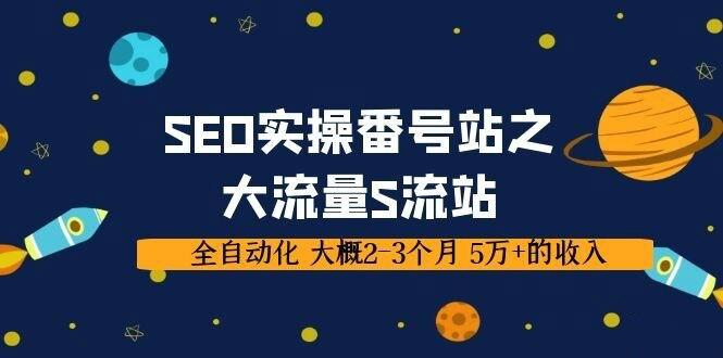 SEO实操番号站之大流量S流站,全自动化 大概2-3个月 5万+的收入