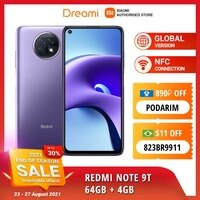 Global Version Xiaomi Redmi Note 9T 64GB ROM 4GB RAM Dual Sim 5G | Brand New | Sealed - Smartphone Mobile