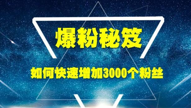 王通《爆粉秘笈》如何快速增加3000个精准粉丝(无水印)